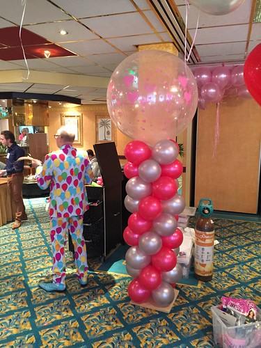 Ballonpilaar Breed Ron Carlton Oasis Hotel Spijkenisse