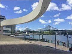 Bend It Like Brisbane (Meremail) Tags: blue sky sun river bend brisbane curve