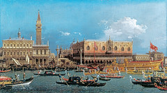 Canaletto - Bucintoro at the Molo on Ascension Day [~1740] (petrus.agricola) Tags: venice canal view antonio giovanni canaletto vedute veneziane