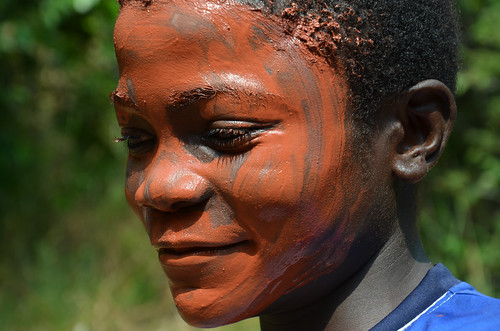 War paint,  Moungali, Republic of Congo