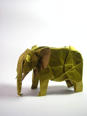 Origami African Elephant (Ivan Svatko) Tags: elephant paper origami african hung nguyen cuong