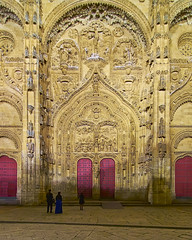 Door of the Holy Birth - Salamanca Cathedral (neoBIT) Tags: street old blue urban sculpture building tower art heritage church monument architecture facade square spain ancient sandstone university cityscape exterior cathedral sacral famous gothic sightseeing style landmark medieval moorish salamanca baroque renaissance mudéjar castillayleón castillaleon plateresque