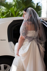Here comes the bride... (PriscillaDPhoto) Tags: wedding portrait bride veil florida profile limo tattoos dunedin weddingdress weddingseason