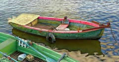fishing boat (bialobrody) Tags: water river boat fishing
