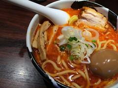 Aka(red)  buskotsu from Menya Musashi @ Ueno (Fuyuhiko) Tags: from red hot aka tokyo ueno  spicy  musashi     menya    akared buskotsu