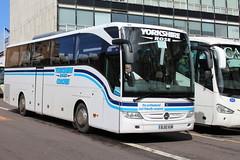 YORKSHIRE ROSE COACHES, BARNSLEY BJ10VUM (bobbyblack51) Tags: rose mercedes benz glasgow yorkshire coaches barnsley tourismo 2016 bj10vum