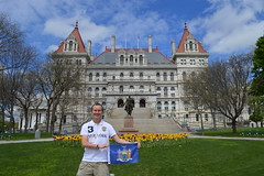 Ryan Janek Wolowski waving the state flag of New York at the The New York State Capitol building a National Historic Landmark on the Empire State Plaza in the capital city of Albany, NY, USA (RYANISLAND) Tags: flowers flower spring tulips 17thcentury nederland upstateny na tulip albany empirestate newyorkstate albanyny nederlands springflowers tulipfestival albanynewyork iloveny flowerfestival springflower tulipflower newamsterdam ilovenewyork tulipflowers theempirestate albanytulipfestival kingdomofthenetherlands dutchsettlement ny flower flowers spring newyork nyc springtime newyorkcity ilovenewyorkspringdestination albanyny albanynewyork albanytulipfestival tulipfestival tulips dutchtulips upstatenewyork nys springflowers orangewonder orangewondertulip queenwilhelmina holland thenetherlands netherlands dutch welcomespring tulip