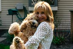 Luna and Mom (masemase) Tags: family dog holiday puppy pennsylvania swiss may luna ridge doodle labradoodle newhope mothersday yardley swissridge