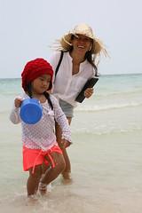 2016-03-09 Phu Quoc Island, Vietnam018 (HAKANU) Tags: red sea beach girl beautiful smile hat smiling lady female island sand asia child shoreline beachlife vietnam phuong wife strawhat phuquoc phuquocisland wifeah