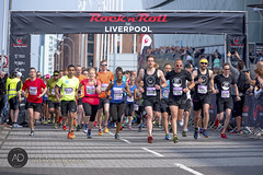 Rock and roll stops the traffic (alun.disley@ntlworld.com) Tags: city summer people tourism sport race liverpool fun contest competition rocknrollseries echoarenaliverpool
