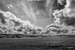 campagna maceratese (Luigi Alesi) Tags: sky bw italy white black weather clouds landscape nikon scenery italia raw nuvole bn cielo coolpix bianco nero marche scenics meteo macerata conuntryside pollenza p330 rambonapaesaggio