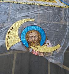 2016-05 Mosaics Phase XI Installation IMG_0783 (Greek Orthodox Church of the Holy Cross) Tags: california church greek us belmont mosaic orthodox iconography tonelli