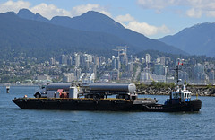 Water Access (drmack2) Tags: park mountains bc shore rainier tug barge towing