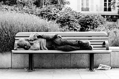 Sleeping... (Nikan Likan) Tags: street white black paris field zeiss vintage lens photography 50mm prime bokeh homeless jena mount mc german carl ddr manual praktica depth   2016 carlzeissjena prakticar 2 14