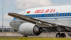 Belavia 737-300 over taxiway Q (Nicky Boogaard Photography) Tags: classic amsterdam wow airport aviation air united croatia delta airbus boeing airlines schiphol a330 tui airfrance 767 737 astana a319 dmaviation