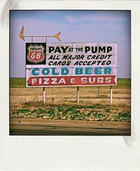 PAY AT THE PUMP (Leo Reynolds) Tags: polaroid fake faux phoney fakepolaroid fauxpolaroid poladroid phoneypolaroid xleol30x