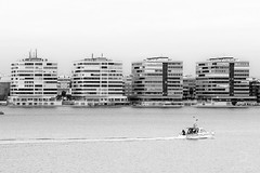 Architectural simetry /\/2 (archtkt) Tags: city travel urban bw white black building tourism monochrome architecture facade spain europe view traditional perspective landmark front architectural alicante murcia destination elevation feature simetry torrevieja simmetry archtkt