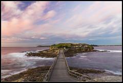 Bare Island Sunrise 28052016 (Tony Hugo) Tags: longexposure bridge water clouds sunrise canon nationalpark rocks waves fort au sydney australia nsw canoneos 6d laperouse bareisland canonef2470mmf4lisusm canoneos6d