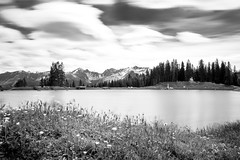Lake is still waiting for the summer (Allgublog) Tags: blackandwhite mountain lake alps landscape austria tirol sterreich spring noiretblanc sw frhling schwarzundweis