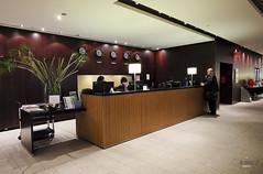 Reception desk (A. Wee) Tags: toronto canada airport lounge reception mapleleaf yyz aircanada