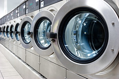 Washing Machines (illicre) Tags: white public work coin industrial spin machine utility indoor front dirty cleaning clothes clean housework domestic wash laundry commercial service neat loader laundromat electrical load tumble washing chores appliance washer launderette detergent loading oversize rinse laundrette automate
