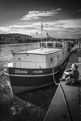 Po bouce (Zdenek Papes) Tags: bw black canon river boot boat prague prag praha bohemia vltava papes moldau zdenek eka zdenk pape