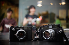 Leica CL & Voigtländer Bessa R3M (Steve only) Tags: leica cl voigtlander bessa r3m cameraandlens panasonic lumix dmcg1 m43 carl zeiss jena ddr tevidon 1425 2514 25mm f14 cmount rf rangefinder leitz