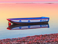 Boat (Francesco Impellizzeri) Tags: sunset seascape water reflections landscape sicilia trapani