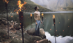In the name of the king (Nhoj Leunamme == Jhon Emmanuel) Tags: portrait art water photoshop mexico fire nikon retrato surreal dreamy conceptual edition toluca