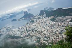 Rio from Corcovado (kiwiiiiiii) Tags: mountain rio clouds de corcovado pao sugarloaf cristo acucar