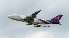 Thai Airways Boeing 747-400 (Urs Walesch) Tags: boeing 747400 thai plane departure