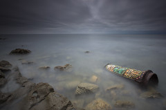 The Pipe (Justin Sharer) Tags: ocean california canon graffiti rust pipe southerncalifornia palosverdes leefilter 15stop 9ndgradhard 5dmarkiii leesuperstopper