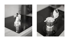 Sunday Morning (Jorkew) Tags: mamiya coffee up cafe diptych close kodak 11 d76 stove z 100 furnace agfa apx percolator 128 cafeine rz67 agfaapx100 tweeluik 110mm sekor mamiyarz67 kodakd7611 cafein bialleti mamiyasekorz110mm128