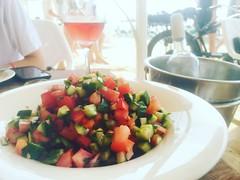 Israeli salad and ros (alisonsteinberg) Tags: summer sun beach tomato salad fresh israeli ros cucumer