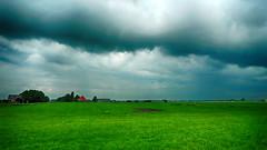 P1040268vf (hans fotografeert) Tags: roof red holland dutch field weather landscape lumix flat farm panasonic land todays dmc dutchlandscape monnickendam lx3 monnickendamholland