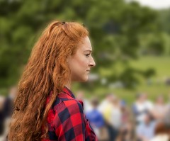Red (terrybrereton833) Tags: girl countryside unitedkingdom lancashire redhead cannon prettygirl longredhair checkedshirt 100d greatharwood