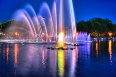 Life around the musical fountain (Andrew Goldman) Tags: life city travel light summer people music color love water fountain glass beautiful smile night flow happy photography mirror see photo amazing do all walk great like best follow we enjoy sit what capture musci
