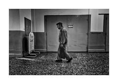 The old passage (Jan Dobrovsky) Tags: street old bw man contrast movement prague grain document passage leicaq