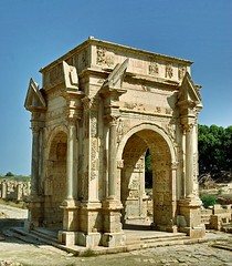 Ancient Rome. Arch of Septimius Severus, Leptis Magna, Africa Proconsularis (Libya), World Heritage Site (mike catalonian) Tags: africa arch worldheritagesite libya leptismagna septimiusseverus ancientrome africaproconsularis