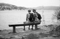 Minolta Hi-Matic G - At Brno Reservoir (Kojotisko) Tags: bw streetphotography brno creativecommons czechrepublic streetphoto vx400 konicamonochromevx400 minoltahimaticg konicamonochrome