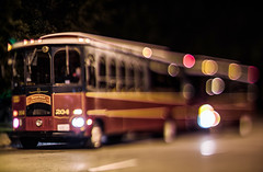 Free Trolley (Jovan Jimenez) Tags: chicago field night canon ball lens eos 50mm lights nikon focus bokeh balls shift shallow manual nikkor m3 tilt depth trolleys selective f12 tiltshift fmount mirrorless bokehful eosm3
