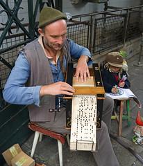 Street Musician, Porto (Jimolin107) Tags: street musician portugal child parrot porto budgie entertainer barrelorgan