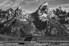 Settlement (Maddog Murph) Tags: trees mountain mountains tree field farmhouse barn fence landscape photography wooden hole farm ngc farming rustic peak grand row jackson photograph valley antelope summit mtn homestead mormon wyoming teton tetons range settlement settled
