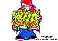 graffiti character sticker (marcomacedo3) Tags: cholowiz wizards graffiti characters stickers collabs slaps nazer26 mtsk skulls clowns street art paste trade cartoons labels sketch spray can