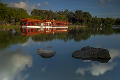 Reflection (ystan) Tags: sunset west reflection tourism weather garden view chinese jurong