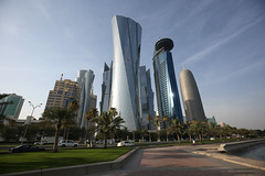 Qatar, World Trade Cente... (John Konstandis) Tags: sky tower skyscraper doha qatar canonef1635mmf4lisusm worldtradecente canoneos5dmarkiii