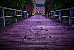 bridge to the castle (Sebastian Schmeinck) Tags: bridge castle brcke schloss perspective abstract view middle central building outdoor vignette shadow light highlight canon eos shot beautiful wood gate portal tor eingang entrance entry way