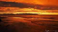 2016 - Landscape - Sunset - Largs - 02_24_09.jpg (stevenlazar) Tags: ocean sunset beach clouds waves jetty australia adelaide southaustralia largs 2016
