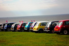Mini all in a row (Glenn_Brown) Tags: sea car mini unionflag cromer