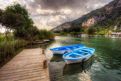 Dalyan, Turkey (Nejdet Duzen) Tags: trip travel vacation holiday nature turkey boat canal trkiye kanal sandal dalyan tatil turkei seyahat caunos doa mula kaunos